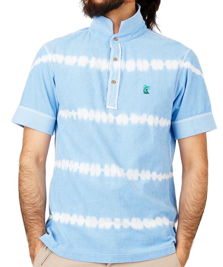 パームスネイク PA パイル地◆絞り染めポロシャツ