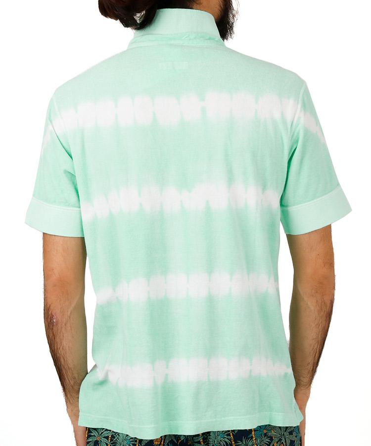 PA パイル地◆絞り染めポロシャツのコーディネート写真