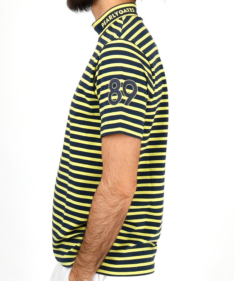 PG CoolMax半袖ボーダーモックネックのコーディネート写真