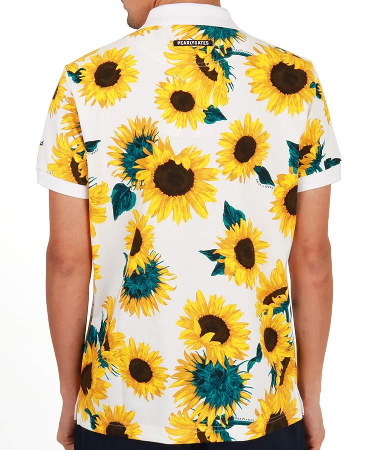PG ひまわりプリントポロシャツのコーディネート写真