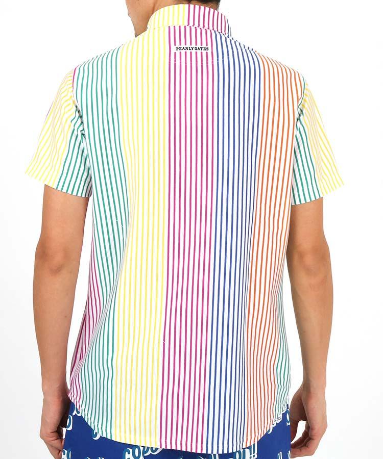 PG マルチカラーストライプ◆ポロシャツのコーディネート写真