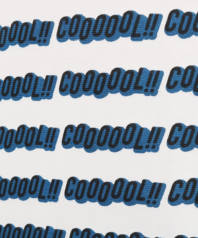 PG 「COOOOOL」ロゴ◆半袖モックネックのコーディネート写真