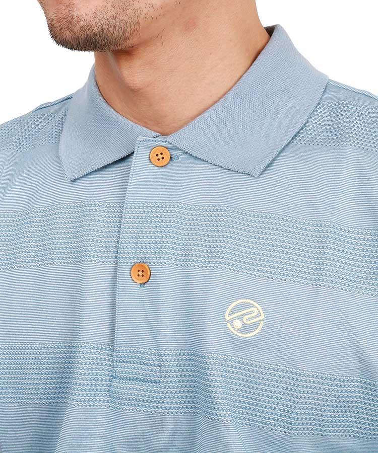 RO ボーダージャガード◆ポロシャツのコーディネート写真