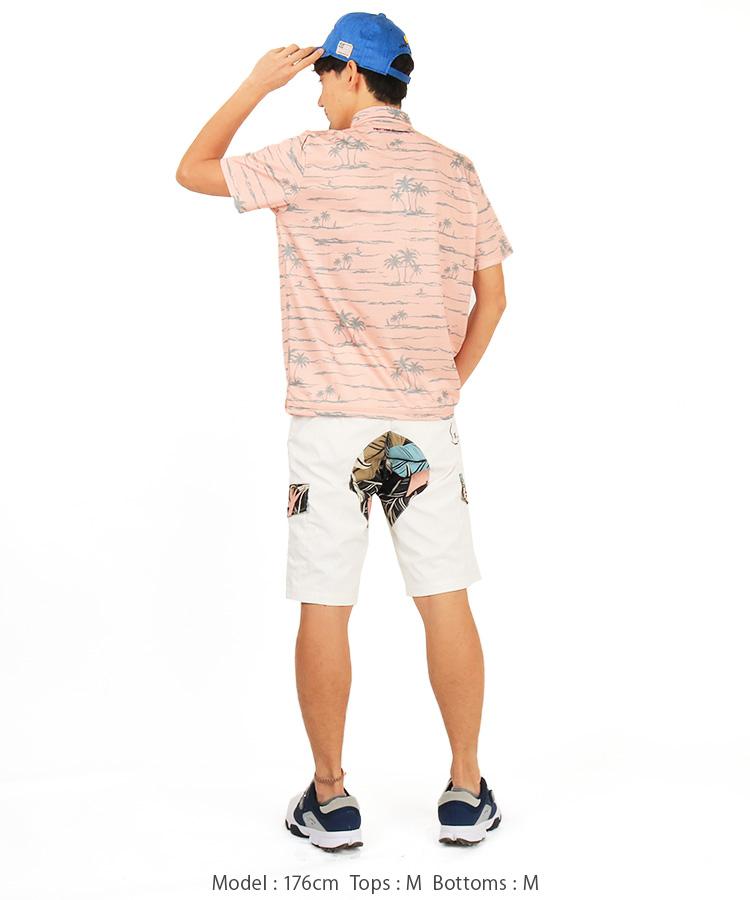 RO アロハボーダー◆ポロシャツのコーディネート写真