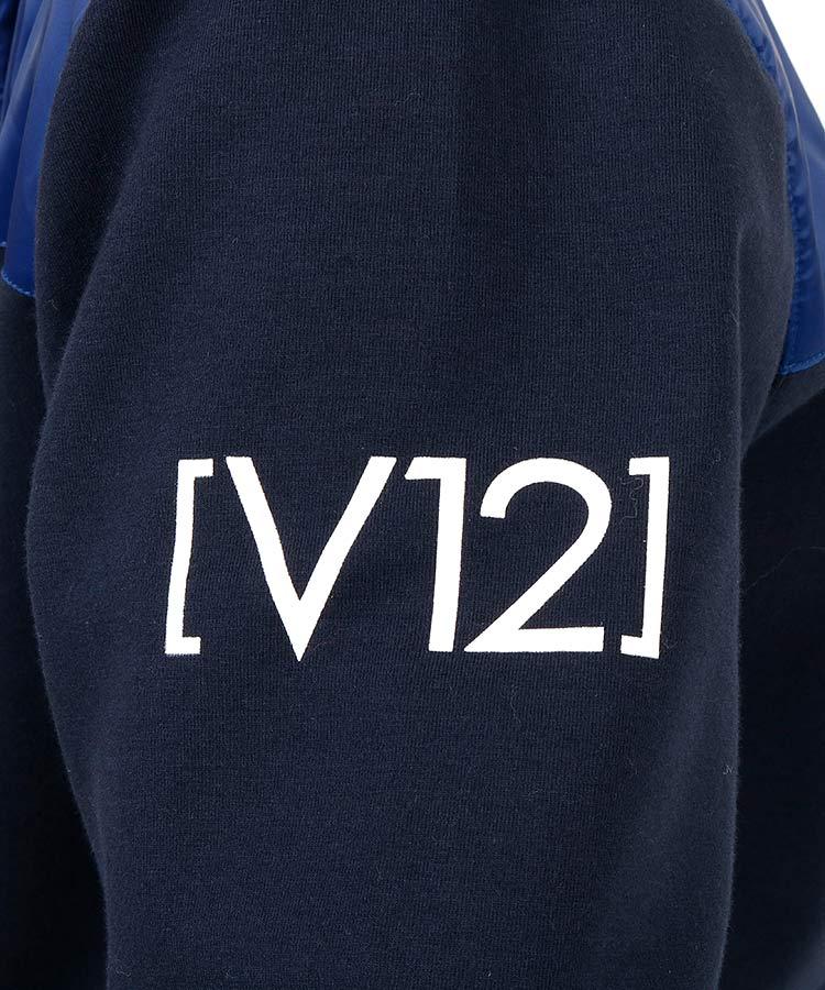 VI 異素材切り替えスウェットブルゾンのコーディネート写真